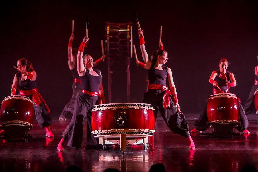 Araumi Daiko taiko optreden performance, Kokoro, Feniks, Ikezuki